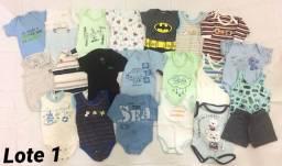 Lotes de roupinha bebê menino tam P (20 peças cada) - R$100 cada lote!!!