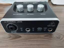 Título do anúncio: Interface de Áudio Behringer U-Phoria UM2