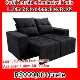 Sofá Retrô E sofá retrátil e reclinável