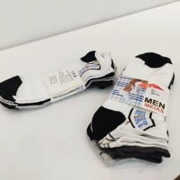 Kit 3 pares de meias masculinas