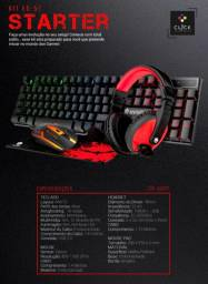 Kit Gamer Starter - Mouse Teclado Headset Pad - Eg-51 Evolut