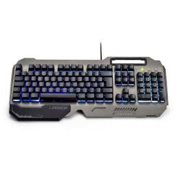 Teclado Gamer Warrior Ragnar Superfície Metal LED - TC222