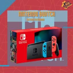 Nintendo Switch Bateria Estendida - Neon vermelho e azul | Lacrado com 6 meses de garantia