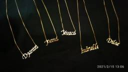 Peças de jóias banhadas a ouro