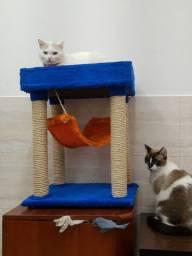 Arranhador de gatos com rede e caminha