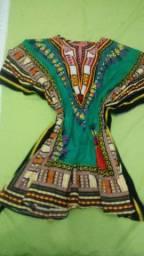 Vestido africano.