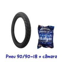 Título do anúncio: Pneu + Câmara Traseiro CG 125/150/160 Ybr125  Titan Fan Start