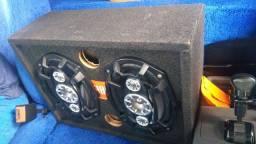 Caixa com 2 6x9 JBL  e Modulo soundigital 400