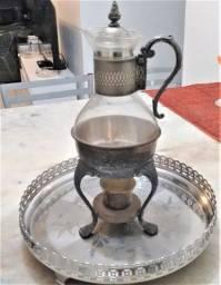 Samovar Russo latão banho prata