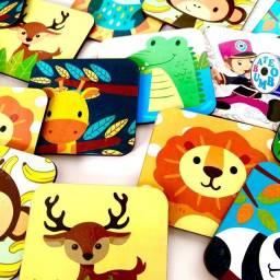 Jogo da memória animais 24pcs em madeira
