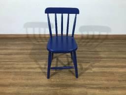 Título do anúncio: Cadeira Espanha Madeira de Reflorestamento Pinus Elliotti Azul