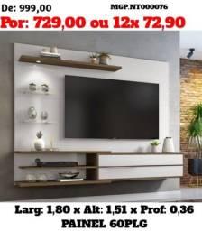 Super Promoção MS=Painel de televisão até 60 Plg-Painel de TV- Sala