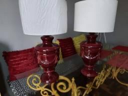 Luminária cerâmica grande Par