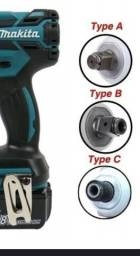 Parafusadeira de impacto makita 18v com bateria e carregador