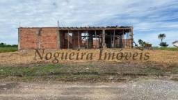 Terreno com casa em construção condomínio Fazenda Victória (Nogueira Imóveis)