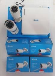 Kit HIKVISION DVR-104Q-K1 1080P com 4 câmeras + HD 1 Tera Seagate