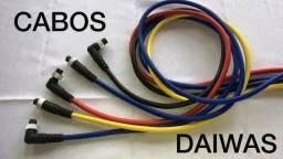 Cabo alimentação carretilha elétrica Daiwas conector ( L ) e reto