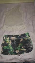 Short e blusa da kukixo