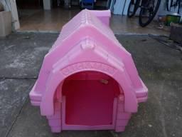 Casinha de cachorro Rosa Top de polietileno em ótimo estado