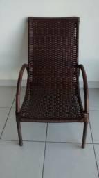 Cadeira Poltrona em Junco Fibra Sintética para Varanda