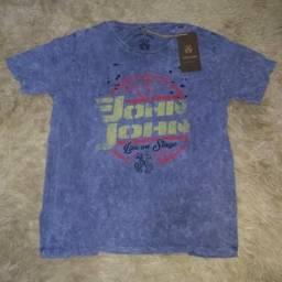 Camisa john john, reserva e calvin klein