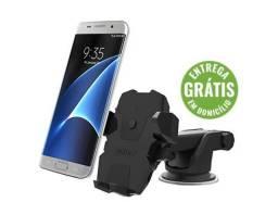 Suporte celular gps carro veicular new long trava automática - entrega gratis
