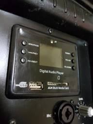 Caixa de som ativa WLS W10 usada. Amplificada, ótima pra retorno