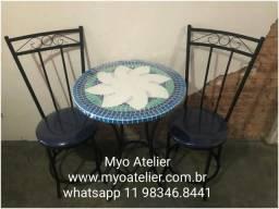 Mesa sacada, mesa varanda, moveis, conjunto de mesa