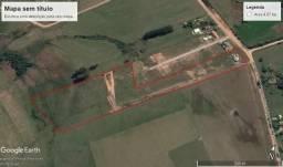 Area de terras de 4,97 hectares