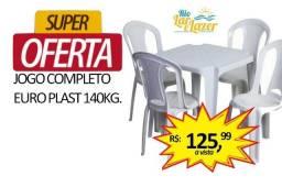 Jogo de Mesa e Cadeira de Plástico para Bar