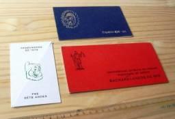 Colecionáveis Antigos - Lote 3 Convites Formatura Antigos - Década 70 E 80