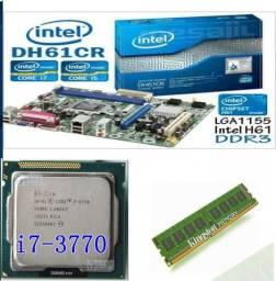 Vendo kit Placa-Mãe / Processador intel i7 3770 / Memoria 8GB 1300R$