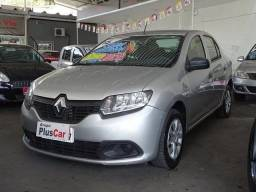 Renault Logan Auth 1.0 16v 2014/2015 Prata