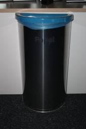 Cesto de Lixo / Lixeira em Inox Cinza 70cm x 38cm x 20cm