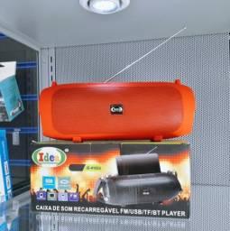 Caixa De Som 8W Bluetooth C/ Suporte e Alça