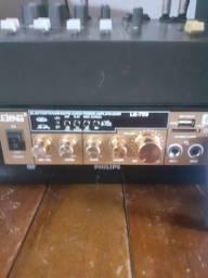 Amplificador de 800 .mesa de 4 canais caixa..com falante de 15 polegadas  .