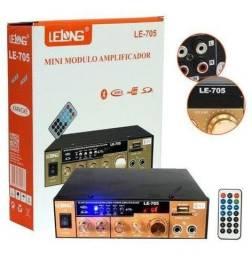 Amplificador Àudio Estereo Bluetooth Rádio Karaokê Fm - Loja Natan Abreu