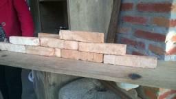 Revestimento de tijolo de demolição cortado 1 Capa 6 x 25 x 3,5 cm R$ 1,45 + frete