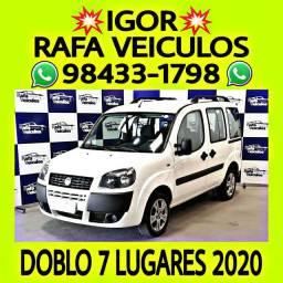 FIAT DOBLO 1.8 MT FLEX 2020 1 MIL DE ENTRADA NA RAFA VEICULOS ff