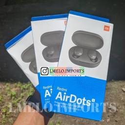 Redmi AirDots S Fone Bluetooth Xiaomi Lacrado   Modelo Novo   Grátis Case Silicone