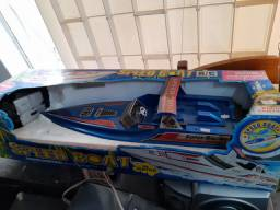 Lancha de controle vintage speed Boat