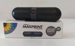 Oportunidade!!! Caixa de som Maxprint - com bluetooth