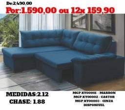 Título do anúncio: Sofa com Chase= Sofa Retratil Barato - Sofa de Canto - Super Promoção eM MS