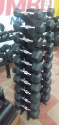 Halter Injetado Par de 1 kg a 10 kg + Suporte