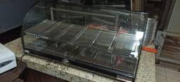 Balcao e estufa padaria, lanchonete