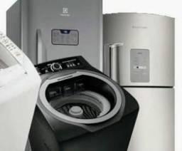 Manutenção em máquina de lavar e geladeira