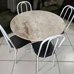 Mesa de Cozinha C/ 4 Cadeiras - ENTREGO