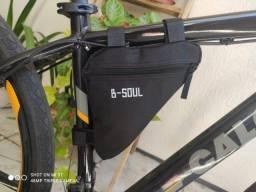 Título do anúncio: Bolsa Triangular De Quadro Para Bicicleta B-soul