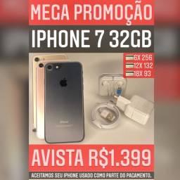 iPhone 7 32gb, aceitamos seu iPhone usado como parte do pagamento.