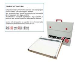 Prancheta Portátil P/ Desenho A2 com régua paralela inclusa